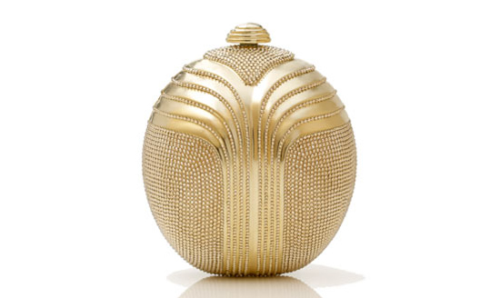 Judith Leiber Deco Oval Minaudiere